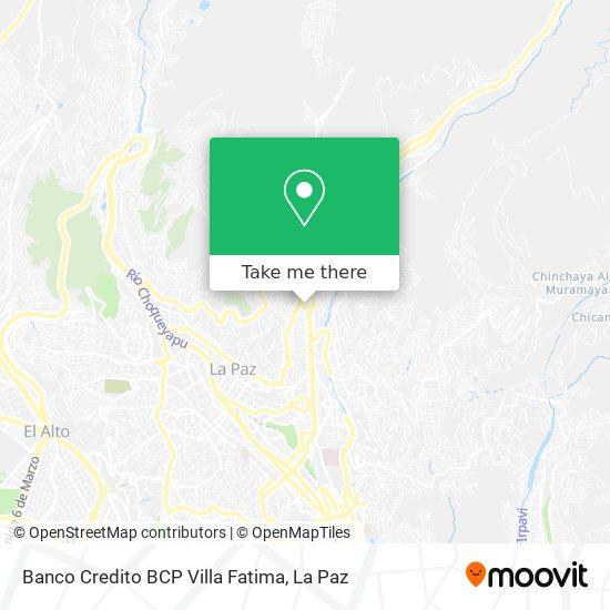 Banco Credito BCP Villa Fatima map