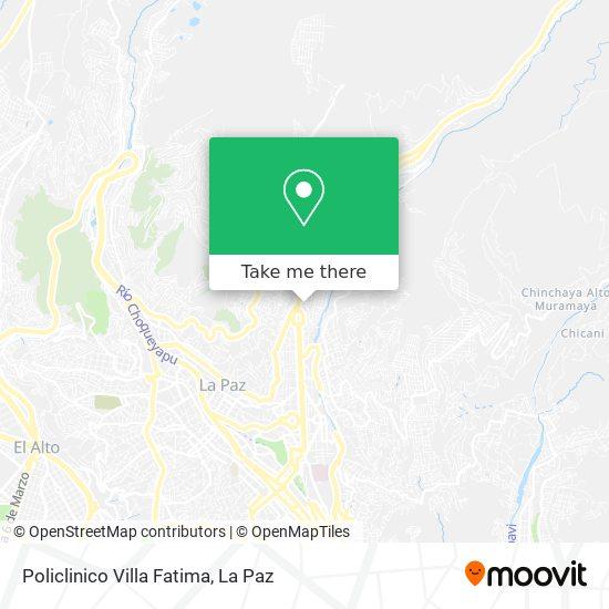 Policlinico Villa Fatima map