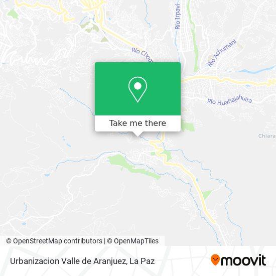 Urbanizacion Valle de Aranjuez map