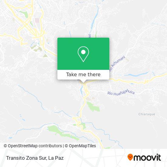 Transito Zona Sur map
