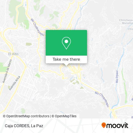 Caja CORDES map