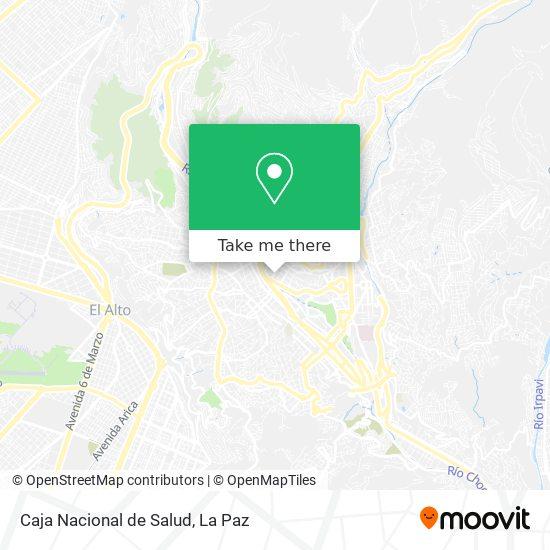 Caja Nacional de Salud map