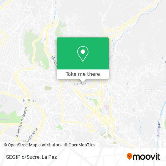 SEGIP c/Sucre map