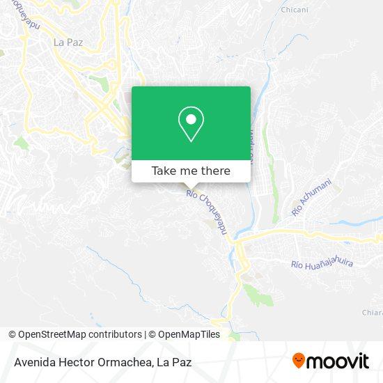 Avenida Hector Ormachea map