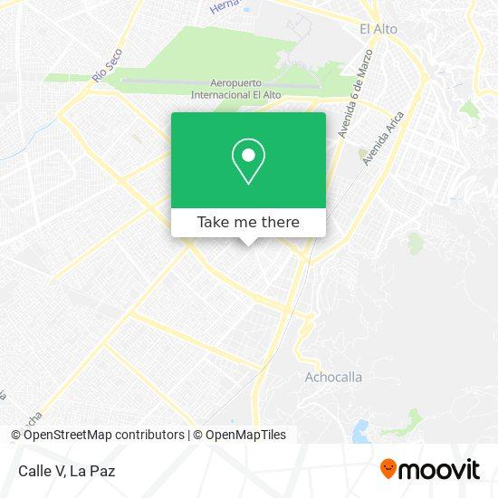 Calle V map