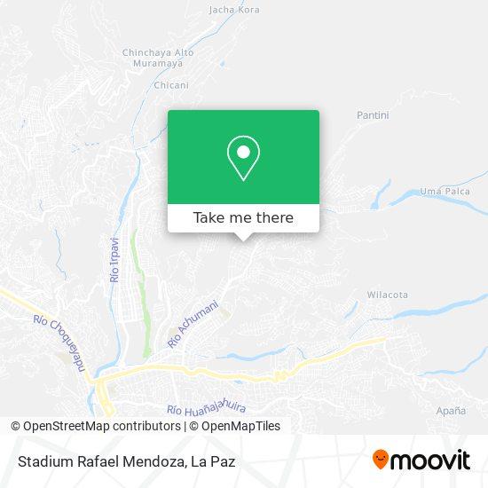 Stadium Rafael Mendoza map