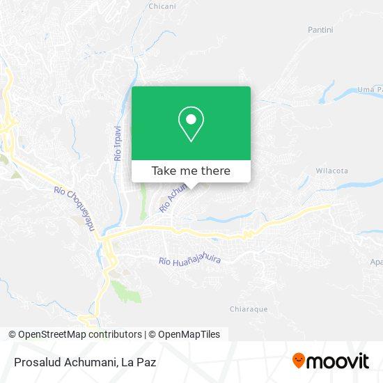Prosalud Achumani map