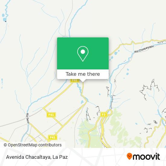 Avenida Chacaltaya map
