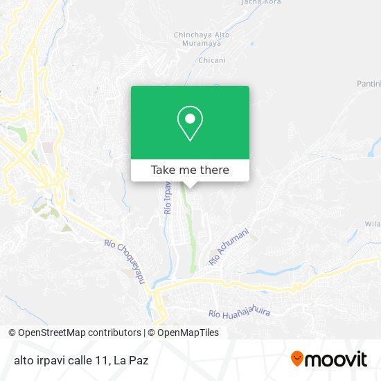 alto irpavi calle 11 map