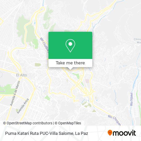 Puma Katari Ruta PUC-Villa Salome map