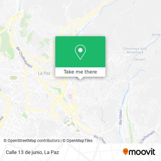Calle 13 de junio map
