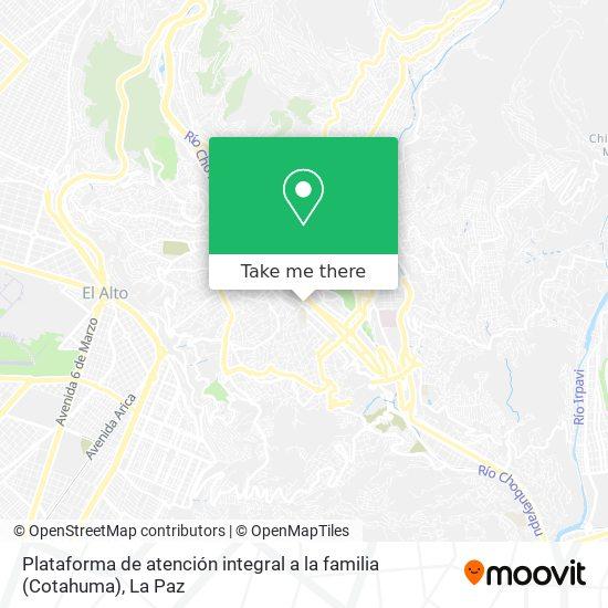 Plataforma de atención integral a la familia (Cotahuma) map