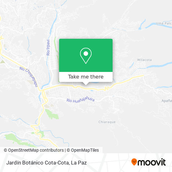 Jardín Botánico Cota-Cota map