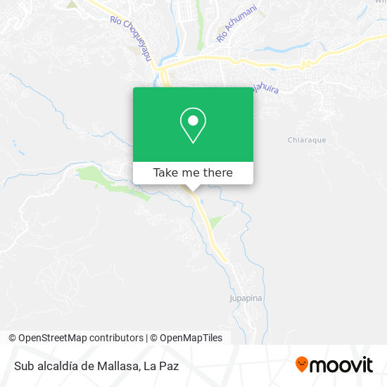 Sub alcaldía de Mallasa map