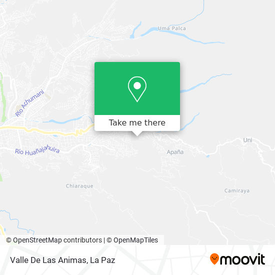 Valle De Las Animas map