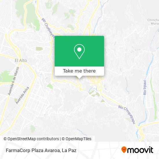 FarmaCorp Plaza Avaroa map