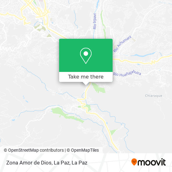 Zona Amor de Dios, La Paz map