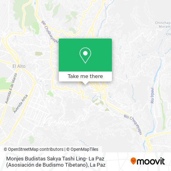 Monjes Budistas Sakya Tashi Ling- La Paz (Asosiación de Budismo Tibetano) map