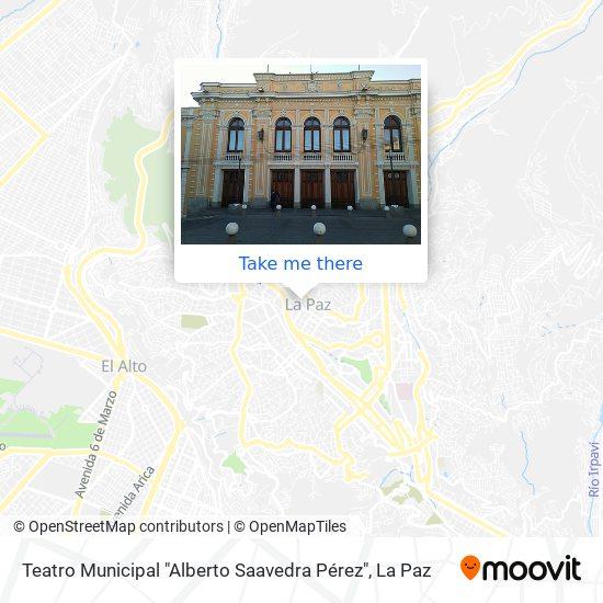 "Teatro Municipal ""Alberto Saavedra Pérez"" map"
