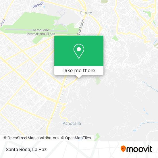 Santa Rosa map
