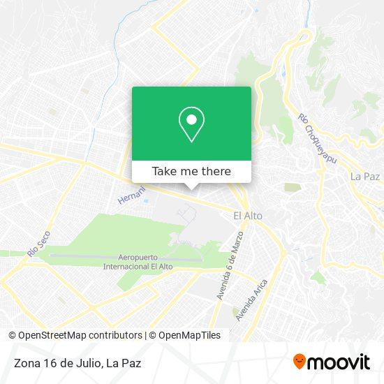 Zona 16 de Julio map