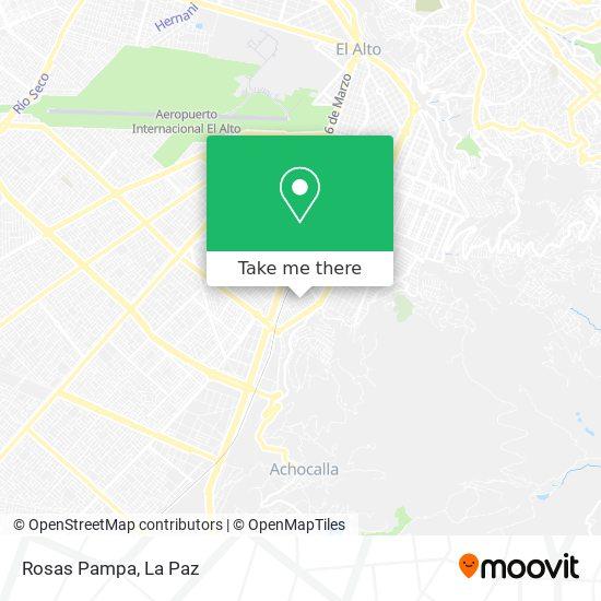 Rosas Pampa map