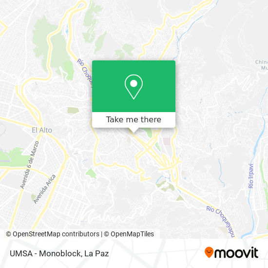 UMSA - Monoblock map