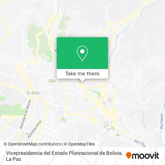 Vicepresidencia del Estado Plurinacional de Bolivia map