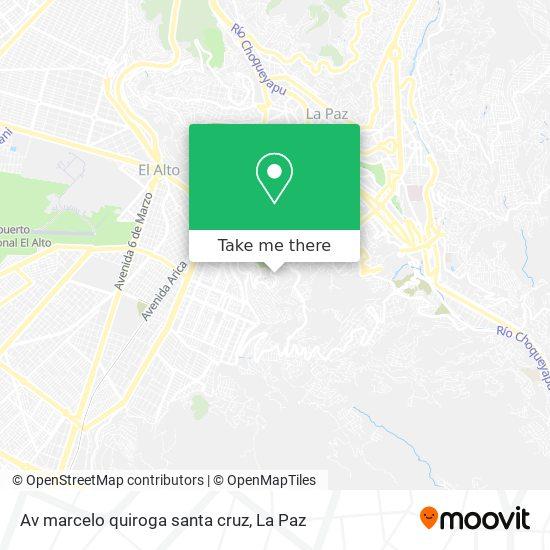 Av marcelo quiroga santa cruz map