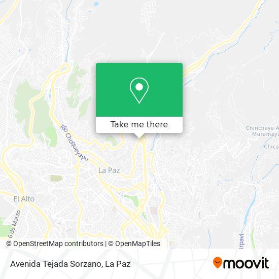 Avenida Tejada Sorzano map