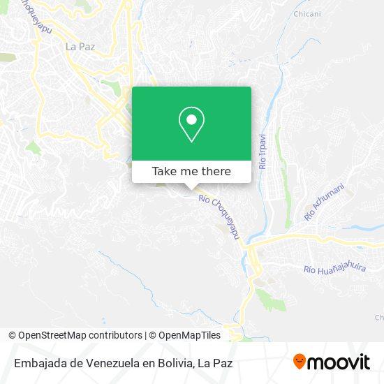 Embajada de Venezuela en Bolivia map