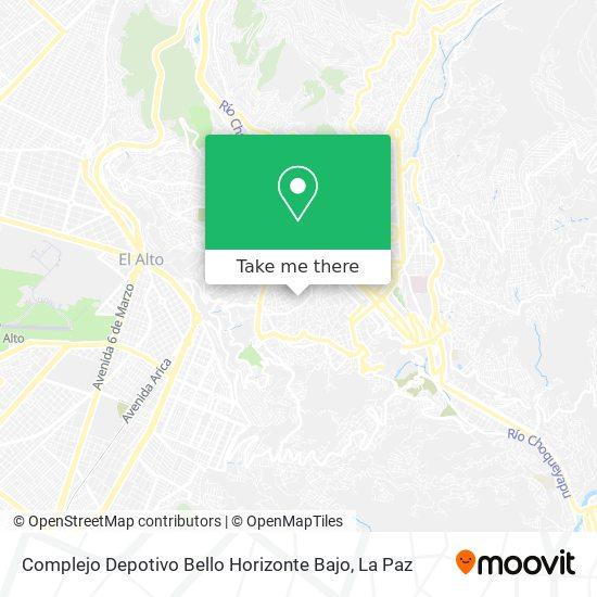 Complejo Depotivo Bello Horizonte Bajo map