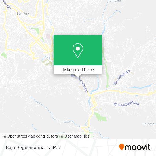 Bajo Seguencoma map