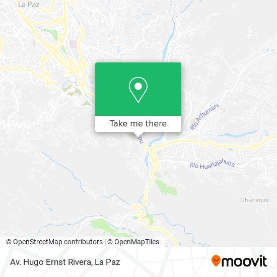 Av. Hugo Ernst Rivera map