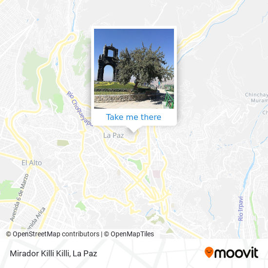 Mirador Killi Killi map