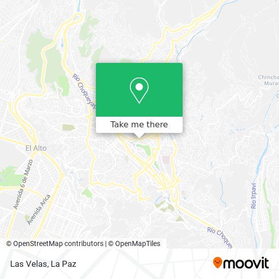 Las Velas map