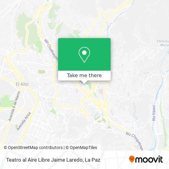 Teatro al Aire Libre Jaime Laredo map