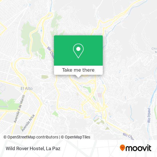 Wild Rover Hostel map