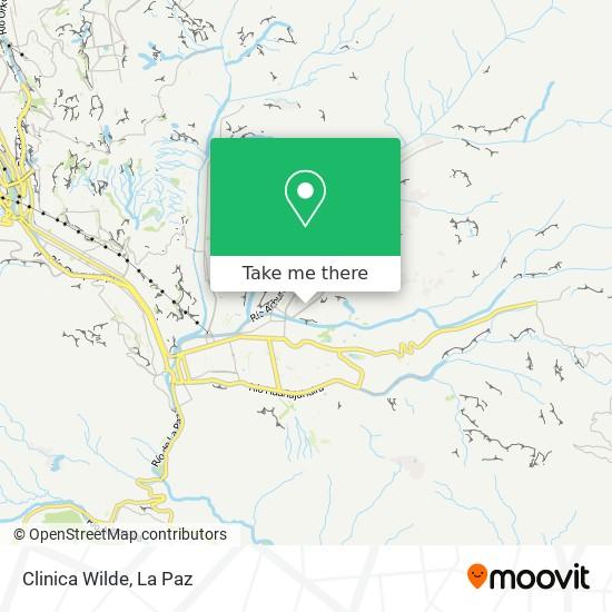 Clinica Wilde map