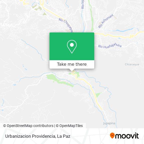 Urbanizacion Providencia map