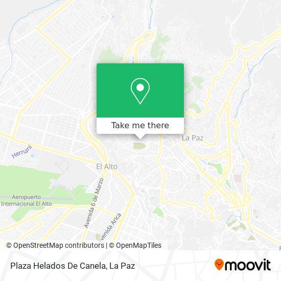 Plaza Helados De Canela map