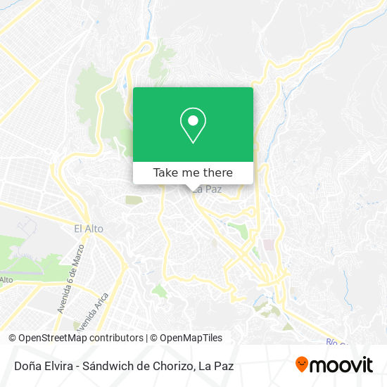 Doña Elvira - Sándwich de Chorizo map