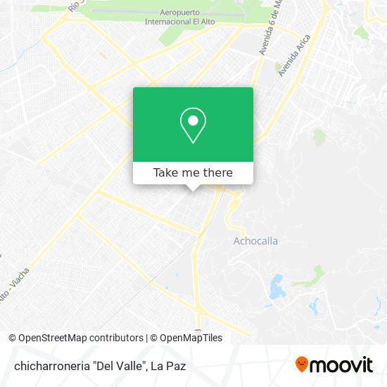 """chicharroneria """"Del Valle"""" map"""