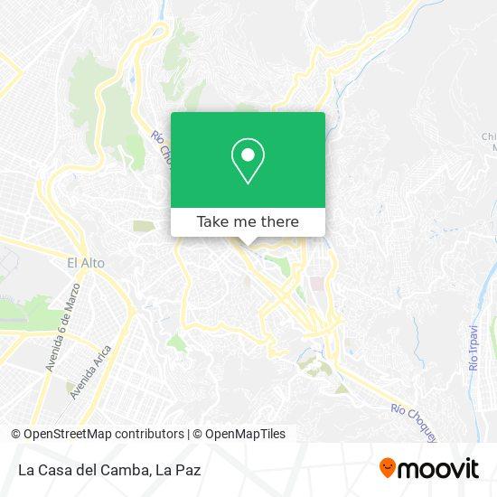 La Casa del Camba map