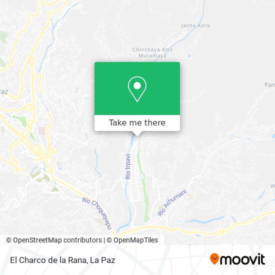El Charco de la Rana map