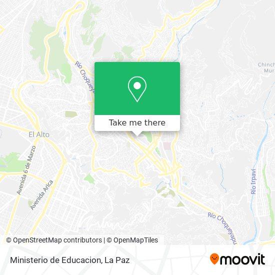 Ministerio de Educacion map