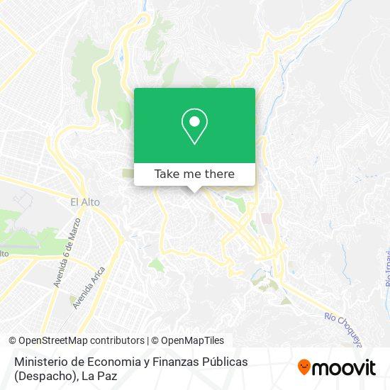Ministerio de Economia y Finanzas Públicas (Despacho) map