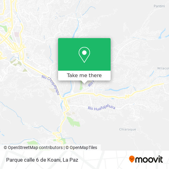 Parque calle 6 de Koani map