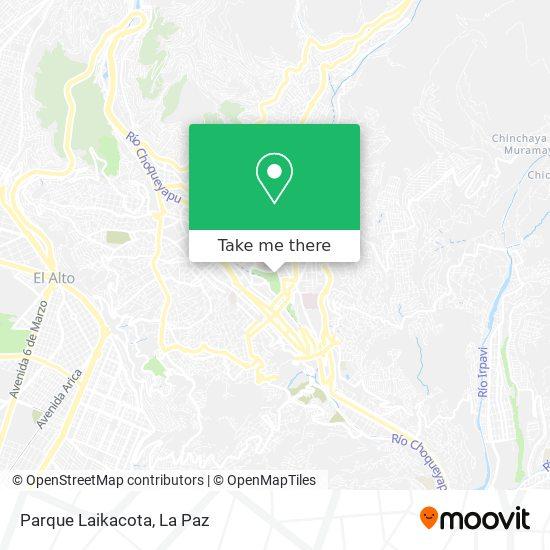 Parque Laikacota map