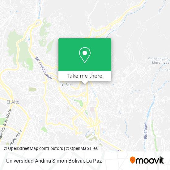 Universidad Andina Simon Bolivar map